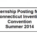 Connecticut Invention Convention Internship Opportunity Summer 2014
