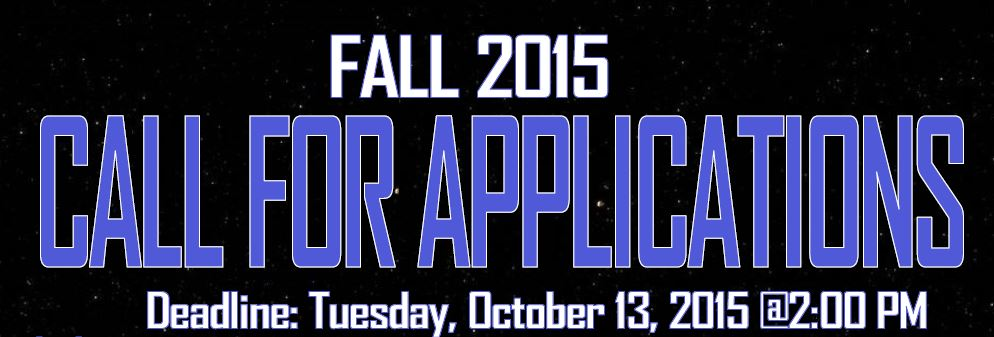 New! Fall 2015 Call For Proposals!