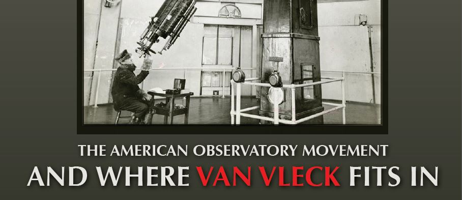 Wesleyan History Dept. Presents: The American Observatory Movement